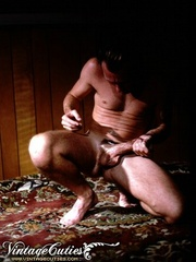 Naked male playing with his dick in vintage - XXX Dessert - Picture 2