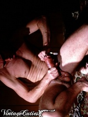 Naked male playing with his dick in vintage - XXX Dessert - Picture 3