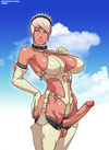 Delicoous cartoon t-girls teasing and enjoying 69…
