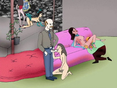 Naked cartoon girl enjoying pussy licking and awesome - Picture 2