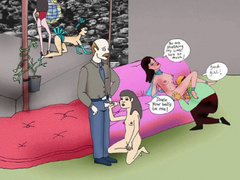 Naked cartoon girl enjoying pussy licking and awesome - Picture 5