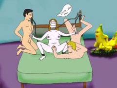 Naked chained toon cutie forced to wank two hard - Picture 3