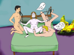 Naked chained toon cutie forced to wank two hard - Picture 6