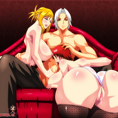 Shaved pussy anime babes dildoing their itching - Picture 1