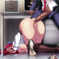 Shaved pussy anime babes dildoing their itching - Picture 3