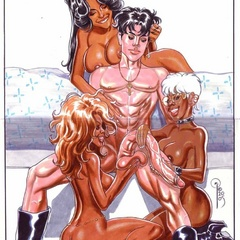 Sex starving cartoon beauty gets sedduced and fucked - Picture 4