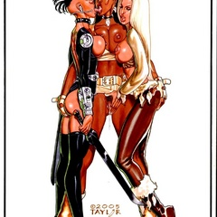 Huge tits xxx comics cuties in latex outfit kissing - Picture 4