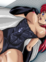Busty anime stunners like the feeling of huge hard - Picture 4