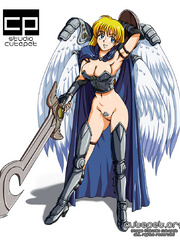 Big tits hentai beauties in sexy outfits passionately - Picture 1
