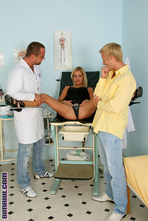 Bisexual doctor and patient and nurse 4