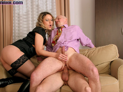 Big tits hottie in black stay ups called - XXX Dessert - Picture 1