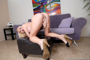 curly blonde squirter unleashes