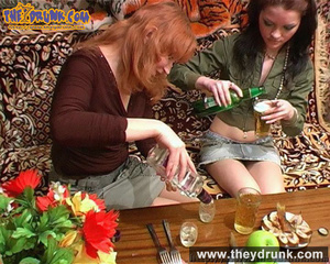 Lesbians relaxing with snacks, drinks and sex - XXXonXXX - Pic 2