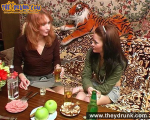 Lesbians relaxing with snacks, drinks and sex - XXXonXXX - Pic 4
