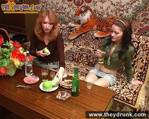 Lesbians relaxing with snacks, drinks and sex - XXXonXXX - Pic 6