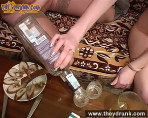 Lesbians relaxing with snacks, drinks and sex - XXXonXXX - Pic 16
