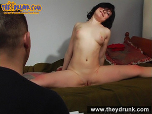 Sexy slut in black skirt and red top made drunken by man finally she gets completely nude - XXXonXXX - Pic 13