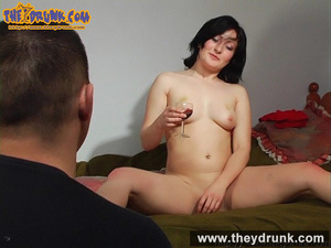 Sexy slut in black skirt and red top made drunken by man finally she gets completely nude - XXXonXXX - Pic 15