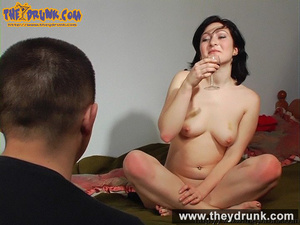 Sexy slut in black skirt and red top made drunken by man finally she gets completely nude - XXXonXXX - Pic 16