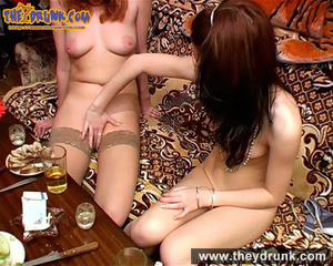 Perfect bodied naked redhead and brunette lesbians play exciting game together - XXXonXXX - Pic 4