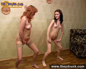 Perfect bodied naked redhead and brunette lesbians play exciting game together - XXXonXXX - Pic 9