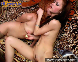 Perfect bodied naked redhead and brunette lesbians play exciting game together - XXXonXXX - Pic 13