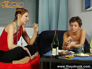 Sporty young girls relax with some drinks and kissing topless - XXXonXXX - Pic 8