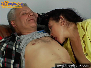 This aging guy knows what to do if he wants his cock sucked by his little wife - XXXonXXX - Pic 13