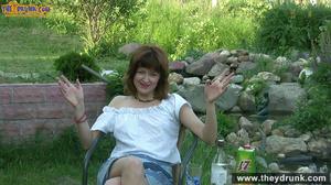 Brunette mature slut takes off white blouse and skirt and posing stark-naked in the garden - XXXonXXX - Pic 4