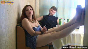 Brunette mature wife in blue dress gets drunken and fingered by her hubby - XXXonXXX - Pic 9