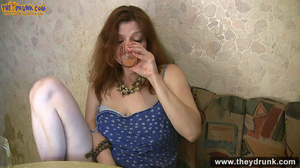 Brunette mature wife in blue dress gets drunken and fingered by her hubby - XXXonXXX - Pic 10