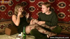 Slutty blond in short dress and stockings sucks with pleasure - XXXonXXX - Pic 3