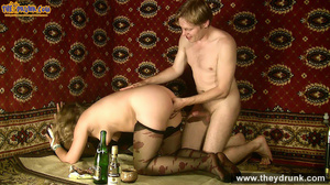 Slutty blond in short dress and stockings sucks with pleasure - XXXonXXX - Pic 10