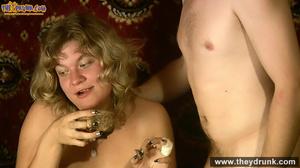 Slutty blond in short dress and stockings sucks with pleasure - XXXonXXX - Pic 13