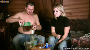Tipsy blond girl gets naked spreads her legs for her man then sucks him - XXXonXXX - Pic 2