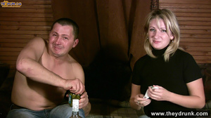 Tipsy blond girl gets naked spreads her legs for her man then sucks him - XXXonXXX - Pic 3