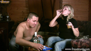 Tipsy blond girl gets naked spreads her legs for her man then sucks him - XXXonXXX - Pic 6
