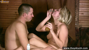 Tipsy blond girl gets naked spreads her legs for her man then sucks him - XXXonXXX - Pic 15