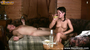 Dark haired girl with beautiful eyes strips down then gets on her man's back and makes him exhausted - XXXonXXX - Pic 15