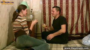 Young couple drinks and gets naked in bedroom and romping - XXXonXXX - Pic 2
