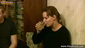 Sporty dressed ponytailed girl drinking with her boy then both of them gets naked - XXXonXXX - Pic 2