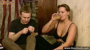 Sporty dressed ponytailed girl drinking with her boy then both of them gets naked - XXXonXXX - Pic 12