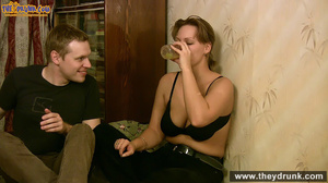 Sporty dressed ponytailed girl drinking with her boy then both of them gets naked - XXXonXXX - Pic 13