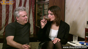 Grey haired daddy drinks with his stepdaughter then they get naked and this young slut is willing to suck - XXXonXXX - Pic 2