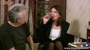 Grey haired daddy drinks with his stepdaughter then they get naked and this young slut is willing to suck - XXXonXXX - Pic 3