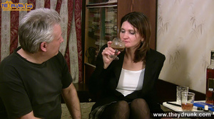 Grey haired daddy drinks with his stepdaughter then they get naked and this young slut is willing to suck - XXXonXXX - Pic 4