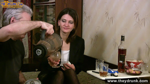 Grey haired daddy drinks with his stepdaughter then they get naked and this young slut is willing to suck - XXXonXXX - Pic 5