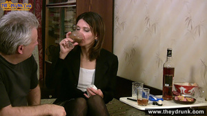 Grey haired daddy drinks with his stepdaughter then they get naked and this young slut is willing to suck - XXXonXXX - Pic 6