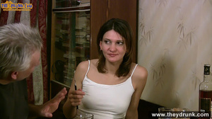 Grey haired daddy drinks with his stepdaughter then they get naked and this young slut is willing to suck - XXXonXXX - Pic 7