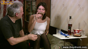 Grey haired daddy drinks with his stepdaughter then they get naked and this young slut is willing to suck - XXXonXXX - Pic 8